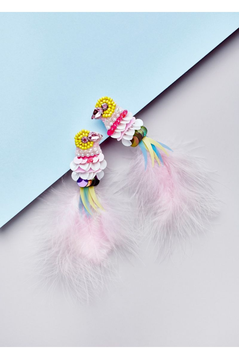 Pink Parrot Feather