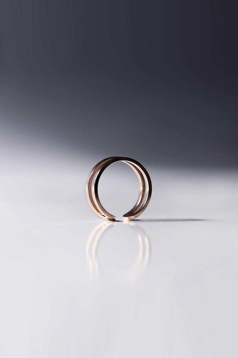 The Sleek 2 Rows Ring Rose Gold