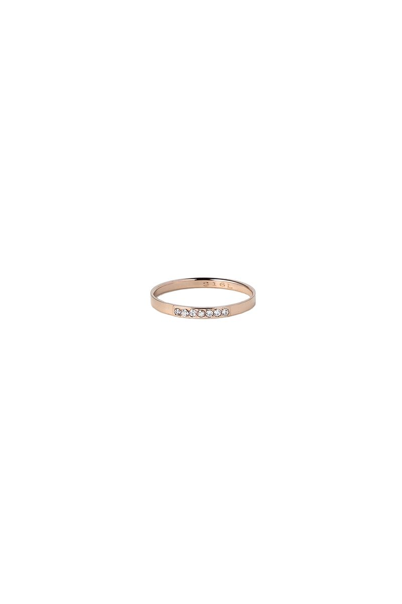 The Sleek 7 Stones Ring Rose Gold