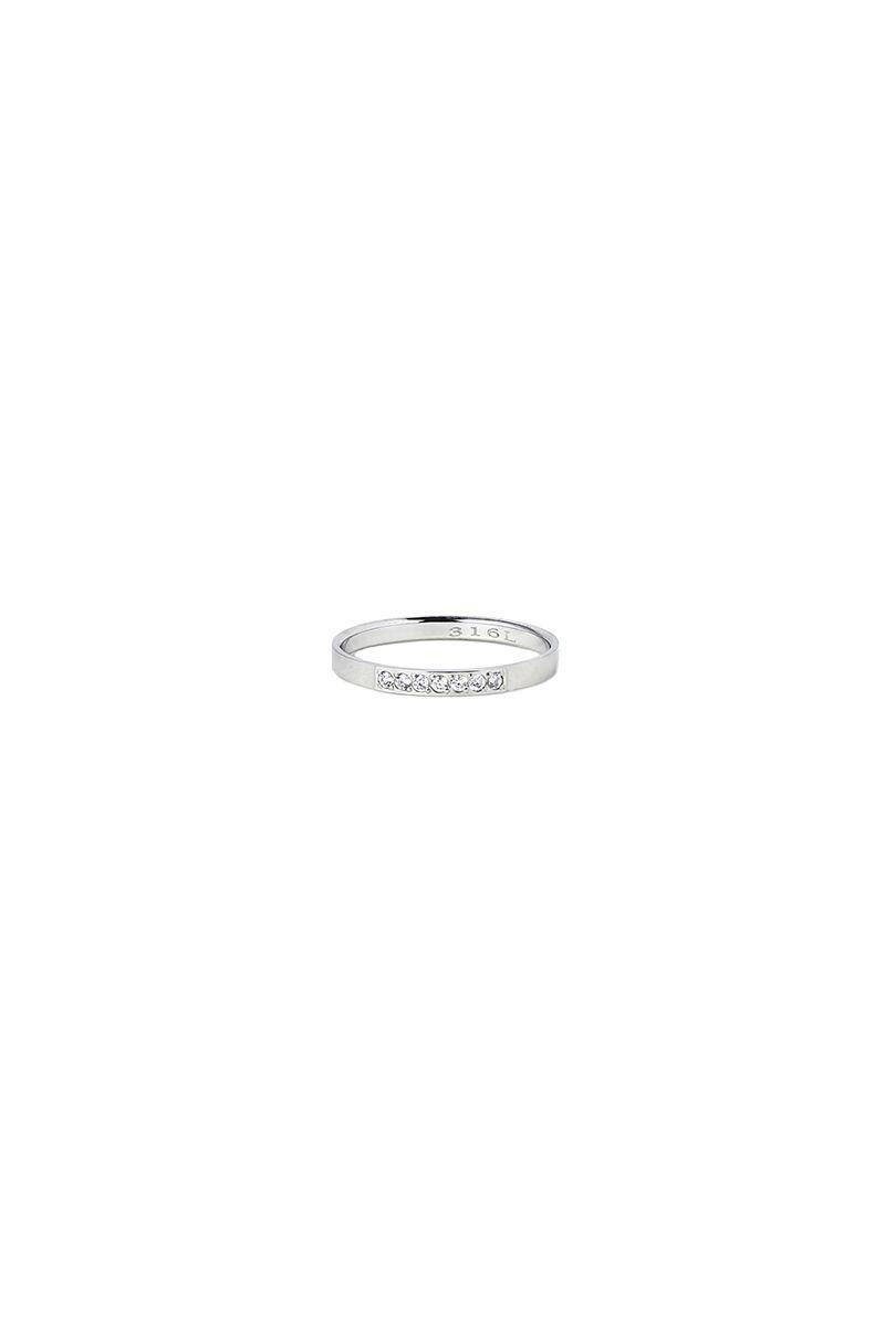 The Sleek 7 Stones Ring White Gold