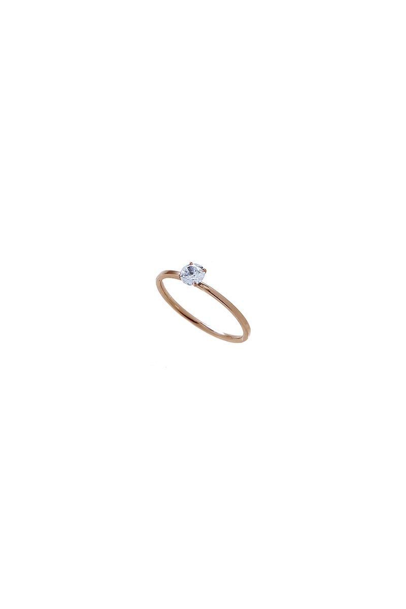 The Sleek Fine Solitaire Ring Rose Gold
