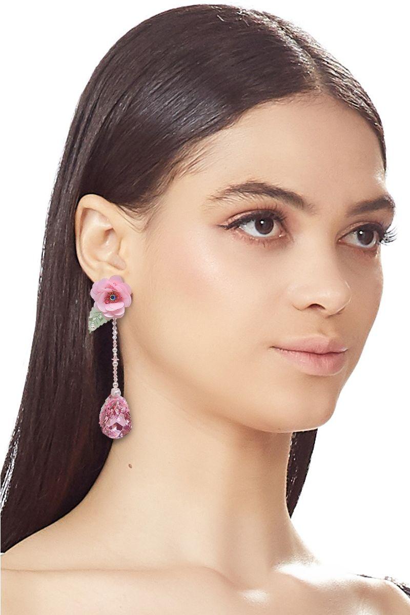 Rose Drop Earring