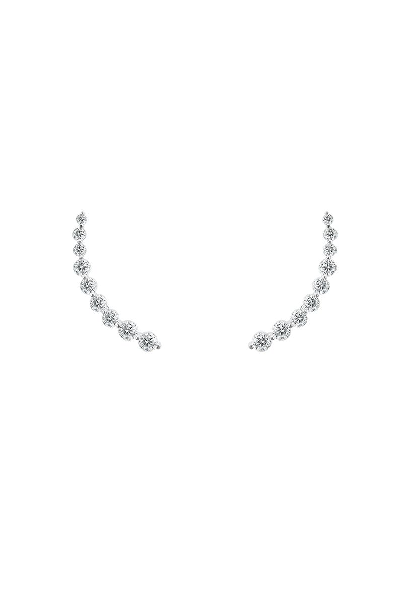 The Essential Nine Solitaire Earring